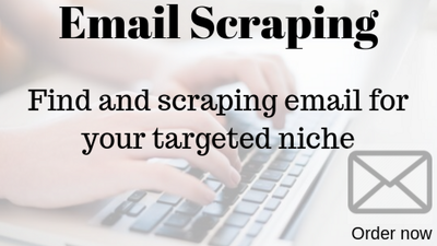 Scrape niche friendly emails of any website