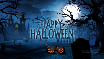 Create scary halloween invitation and greeting video