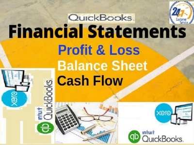 Prepare Financial statement using Quickbooks & Xero