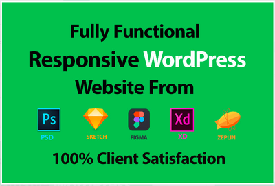 Convert PSD to wordpress SEO friendly responsive themes/template