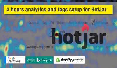 3 hours analytics and tags setup for HotJar for Wordpress site