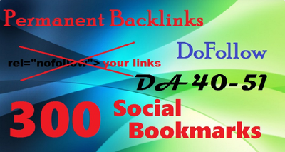 Do 300 Social Bookmarks Permanent DoFollow links