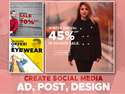 Design 8 social media ad for your business