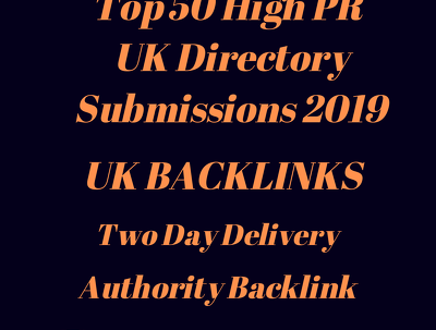 Get High quality UK Directory submissions