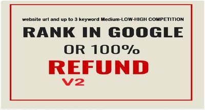Rank your website on google or get money back
