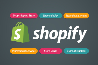 Setup and design shopify dropshipping store