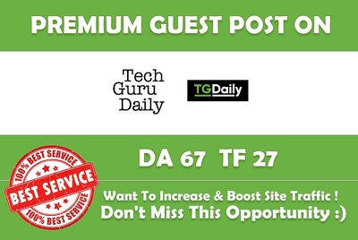 Write and publish on Tgdaily with dofollow backlink