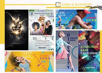 Create flyers, banners, brochures and more