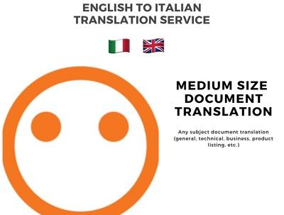 Provide 5000 words English-Italian translations (and vice-versa)