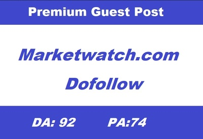write and Publish Guest Post on Marketwatch.com - DA 92