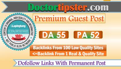 Write & Publish Guest Post on Doctortipster.com - DA55, DoFollow