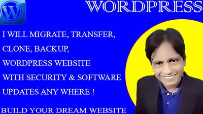 Migrate, transfer, clone, backup, WordPress website