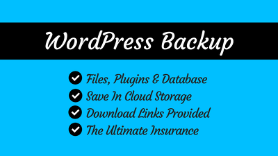 Backup your WordPress files and database in case of emergency