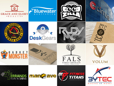 Design a bespoke logo+unlimited revisions+All source files+Artwo