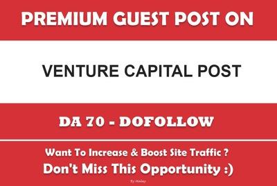Publish a guest post on VCPOST. VCPOST.com – DA70