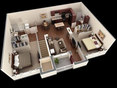 Design 3d floor plane