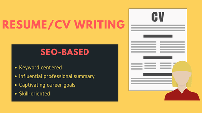 Write,rewrite professional CV, resume and cover letter