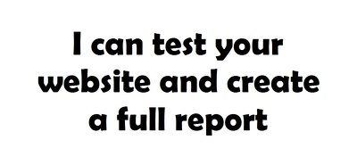 User test your website and create a report