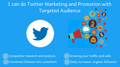 Do twitter marketing and promotion with targeted audience