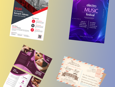 Design attractive poster, flyer, leaflet, Business card , Poster