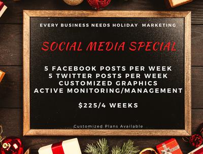 Provide 4 weeks of social media marketing