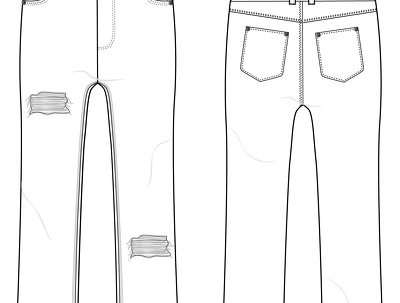 Create a fashion technical drawing (CAD) of your garment designs