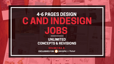 Design 4 to 6 pages Brochures, e-books and InDesign jobs