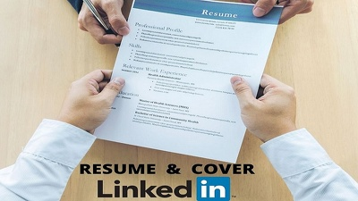 Write Resume/CV, cover and LinkedIn profile