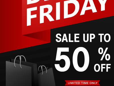Create a beautiful Black Friday flyer within 2 hours