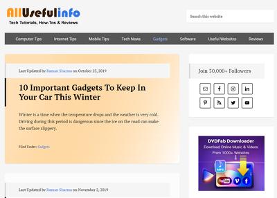Guest post on Allusefulinfo.com tech buisness website - DA 45