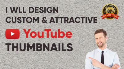 Design attractive youtube thumbnails
