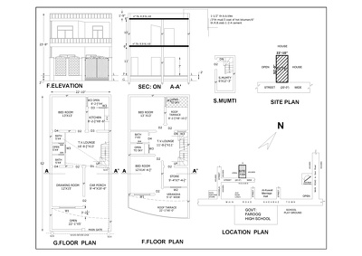 Draw and design a floor plan for your structure in Auto CAD.