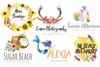 Design Beautiful Water Color And Luxury Logo