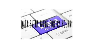Do all type of  Data Entry Work for 03 hours