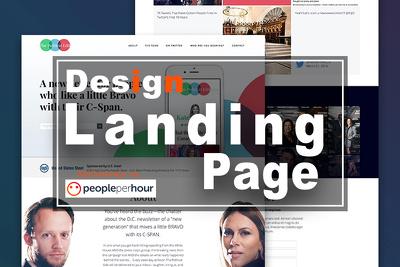 Design  your website , landing page