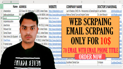 Do web scraping, email extraction only for 10$