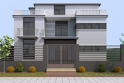 Create a high quality 3D exterior rendering