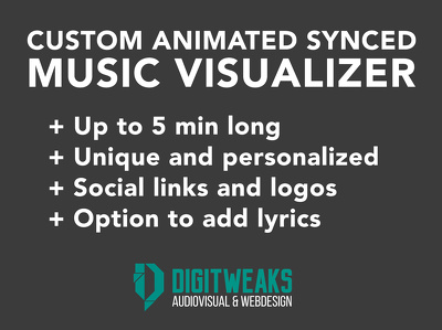 Create an animated music visualizer for your song