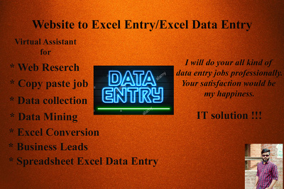 Do any kind of data entry work for 7 hours