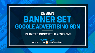 Design a Banner Ad Set (8 sizes) Google Advertising GDN