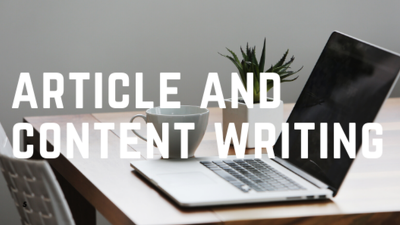 Do article and content writing