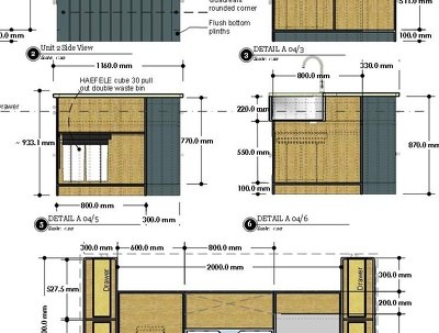 Produce 3D/2D  Shop drawings project_Kitchen / Furniture