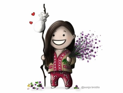 I can draw you, your friends, family members,in cute chibi style