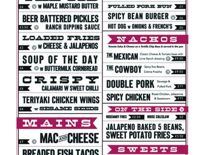Design your food or drinks menu
