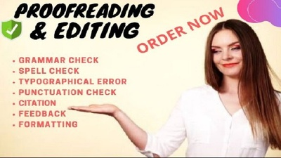Do proofreading and editing 1000-10000