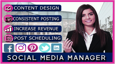 Be your social media marketing manager and virtual assistant