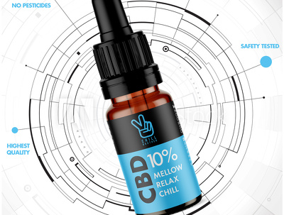 Design you a Professional CBD OIL label that STANDS OUT