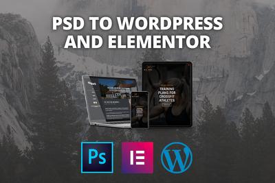 Convert your PSD to Wordpress using Elementor