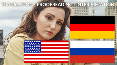 quickly translate German - Russian - English or proofread