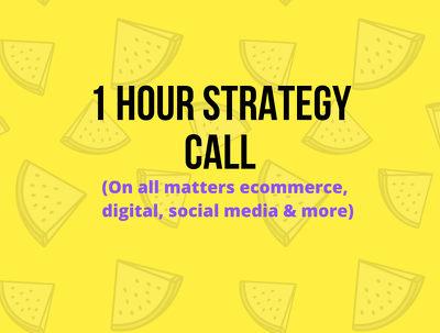 Provide a 1hr Strategy Call